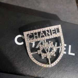 Authentic Chanel Crest Brooch, Pin + Sephora